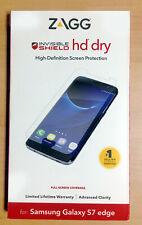 Screen Protector Samsung Galaxy S7 Edge Invisible Shield HD Dry Full Screen ZAGG