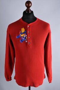 Disney Vintage Pooh Bear Button Neck Jumper Size M