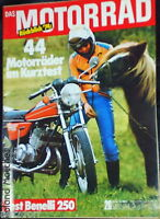 DAS MOTORRAD 26-74+BENELLI 250 2C+44 MOTORRÄDER IM  KURZTEST