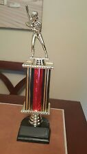 Girls baseball trophy 13 inches red and black no name