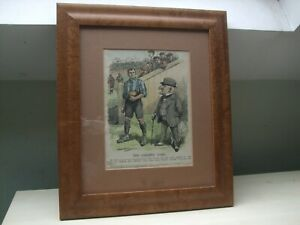 THE GREATER GAME, PUNCH CARTOON IN FRAME WITH SIGNITURE