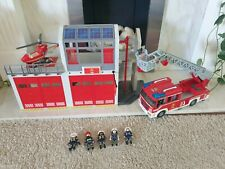 Playmobil 9462 City Action Fire Station Alarm, Engine, Helicopter + Figures