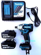 Makita XWT11 18V ½ 3-Speed Impact Wrench, 2) BL1830 Batteries 18 Volt, 1 Charger
