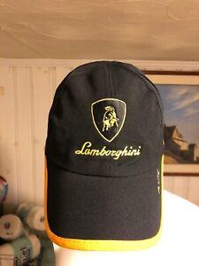 LAMBORGHINI BULL EMBLEM YELLOW BRIM - SOFT Embroidery Basebell Cap Hats