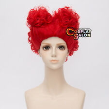 Hot Alice The Queen Of Hearts Anime Cosplay Wonderland Wig Red 30cm Hair +Cap