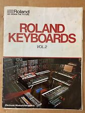 ROLAND KEYBOARDS sales brochure Vol.2 (TB-303 TR-808 JUNO 6 & 60 JUPITER SH-101)
