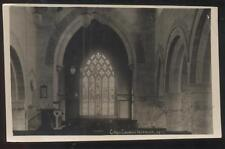 RP Postcard CRICH ENGLAND  Church Interior w/Large Stained Glass Window 1910's
