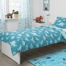 IKEA QUILT COVER/PILLOW CASE, DINOSAUR, BLUE, SINGLE 150 x 200 cm