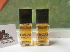 LOT OF 2 VINTAGE FRACAS OLD FORMULA CONCENTRATED PURE PARFUM 4 ML EACH