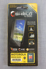 MOTOROLA DROID RAZR ZAGG MILITARY FULL BODY Invisible Protective Shield NEW