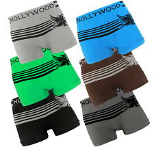 6 Mens Seamless Boxer Briefs HOLLYWOOD PRO Compression Underwear EAGLE