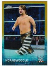 2015 TOPPS CHROME WWE # 33 HORNSWOGGLE GOLD REFRACTOR #/50