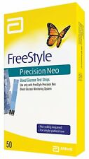 Abbott FreeStyle© Precision Neo Blood Glucose Test Strips 50 Count Exp 09/30/21