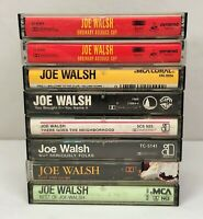 Lot of 8 JOE WALSH Cassette Tapes ~ Got Any Gum?, Best of, Self-Titled, Ordinary