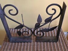 Heavy Fixed  Wrought Iron Bookends