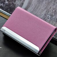 Name Bag PU Purse Leather Credit Mini Business Wallet Box Card Case