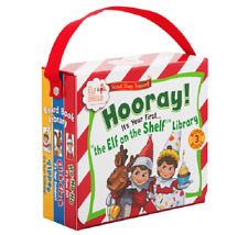 """Hooray! It's Your First """"The Elf on the Shelf"""" Library 3 Board Book Set & Case"""