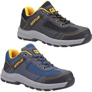 Mens CAT Elmore Safety Trainers Lightweight Steel Toe Cap Caterpillar Work Shoes