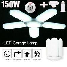 150W Deformable Garage Led Light Bulb Ceiling Fixture + E27 Holder Lights Lamps