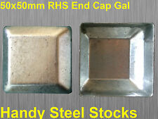 50x50mm Caps for Fencing GAL Posts - Galvanised Steel Square BULK BUY OF 80