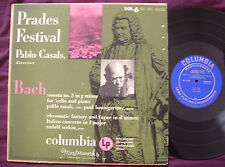 BACH - Cello Sonata #3 / Piano Concerto CASALS SERKIN PRADES ML4350 ED1