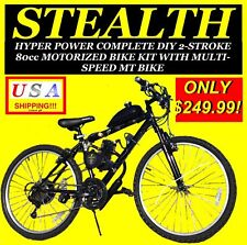 "USA SELLER 2019 STEALTH 80 CC GAS MOTOR ENGINE & 26"" BIKE BICYCLE SCOOTER MOPED"