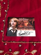 Harry Potter and the Goblet Of Fire Authentic Autograph  Ron Weasley Artbox Card