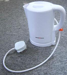 Electric Low Watt Cordless Swiss Luxx Tiny Kettle Caravan White 1.0 Litre mains
