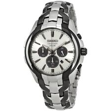 Seiko SSC635 Chronograph Solar Analog Mens Watch Stainless Steel 100m WR New