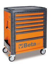 Beta C33 7 Drawer Mobile Roller Cabinet Orange