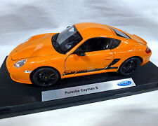 Porsche Cayman S, orange, WELLY 1:18