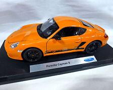 Porsche Cayman S, Orange, Welly 1:18