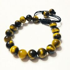 Men's Shamballa bracelet all 8mm TIGER EYE STONE beads