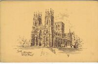 Postcard - York Minster.      (Ref A20)