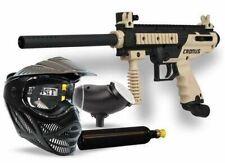 Tippmann Cronus Paintball Marker Semi Auto - Power Pack - Gun Tank Hopper Mask