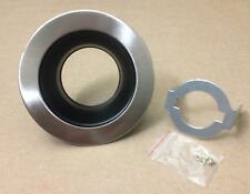 """4"""" INCH RECESSED CAN LIGHT BLACK BAFFLE TRIM WITH SATIN NICKEL RING 120V"""