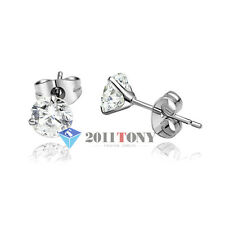 Costume Jewellery 18K White Gold Plated 0.8CT Simulated Diamond Womens Earrings