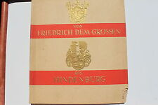 7719c ZigarettenBilder Album Von Friedrich dem Großen bis Hindenburg Wappen 1932
