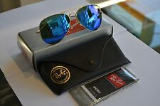 RAYBAN 3025 RB3025 AVIATORS 112/17 BLUE MIRRORED 58 MM  AVIATORS GOLD FRAME!