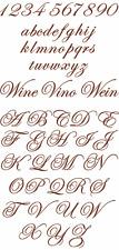 "ABC Designs Plain Elegant Script Machine Embroidery Designs 4""x4"" Hoop"