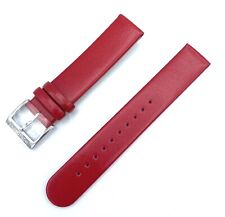 Original Mondaine FE3118.30Q Red Semi Oil Shiny Leather Watch Band 18mm