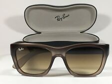 New Authentic Ray-Ban HighStreet Wayfarer Sunglasses RB4194 Square Brown Clear