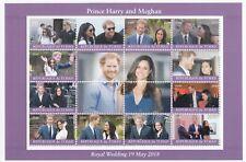 GB Royal Wedding, Prince Harry & Meghan Markle MNH Stamp Sheetlet, 2017, 12 Vals