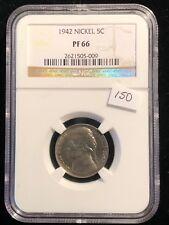 NGC Proof 1942 Jefferson Nickel PF 66 Full Steps Beautiful Rare Key Date Coin