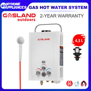GASLAND Gas Hot Water Heater Portable Shower Pump System Camping LPG Caravan