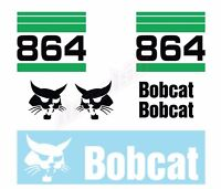Bobcat 864 v2 Skid Steer Set Vinyl Decal Sticker - FREE SHIPPING