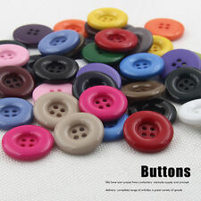 4 Holes Round Resin Buttons 19 colors 15MM-34MM DIY Scrapbooking Sewing Craft