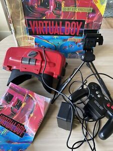 Nintendo Virtual Boy Console With Box And Manual Untested Please Read