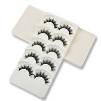 5 Pairs Natural Handmade Makeup Thick False Eyelashes Lashes Extensions Black