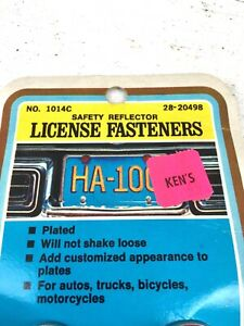 Vtg NOS License Plate Jewel Reflector Harley Screw Motorcycle Ratrod Car Truck